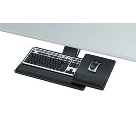 "Buy Fellowes 8017901 Designer Suites Premium Keyboard Tray, 21-3/4"" Track Length, Black"