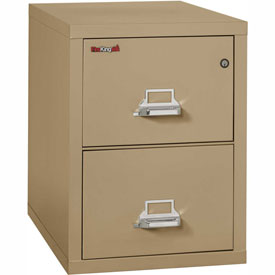 "Fireking Fireproof 2 Drawer Vertical File Cabinet - Legal Size 21""W x 31-1/2""D x 28""H - Sand"