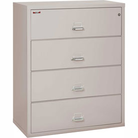 "Fireking Fireproof 4 Drawer Lateral File Cabinet Letter-Legal Size 44-1/2""W x 22""D x 53""H - Lt Gray"
