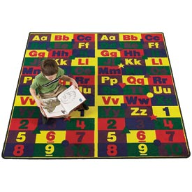 Children Educational Rugs ABC123s  12x12