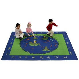 Educational Children's Rugs FROGS 6X9