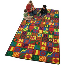 Children Educational Rugs FLOORS THAT TEACH 12X18