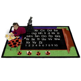 Children Educational Rugs LADY BUG 6X9