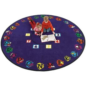 Children Educational Rugs SUPER CIRCLE 8 FT Round