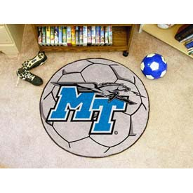 """Middle Tennessee State Soccer Ball Rug 29"""" Dia."""