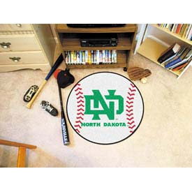 "North Dakota Baseball Rug 29"" Dia."