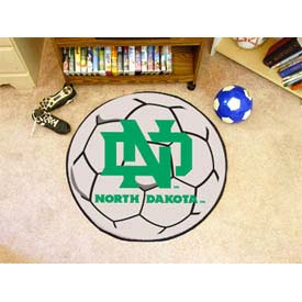 "North Dakota Soccer Ball Rug 29"" Dia."