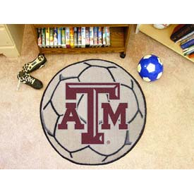 "Texas A&M Soccer Ball Rug 29"" Dia."