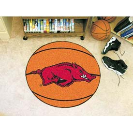 "Arkansas Basketball Rug 29"" Dia."