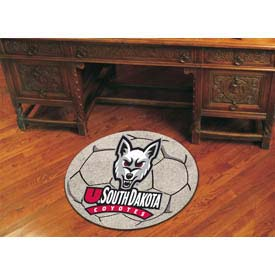 "South Dakota Soccer Ball Rug 29"" Dia."