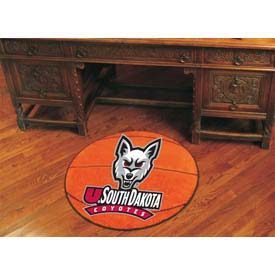 "South Dakota Basketball Rug 29"" Dia."