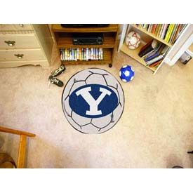 "Brigham Young Soccer Ball Rug 29"" Dia."