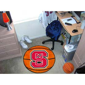 "North Carolina State Basketball Rug 29"" Dia."