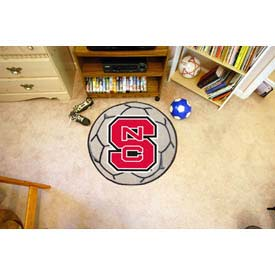"North Carolina State Soccer Ball Rug 29"" Dia."