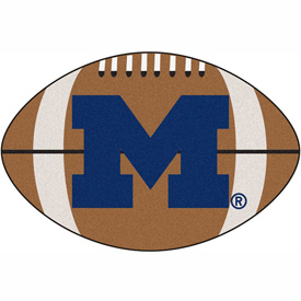 "Michigan Football Rug 22"" x 35"""