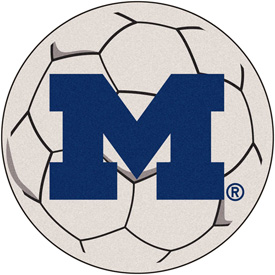 "Michigan Soccer Ball Rug 29"" Dia."