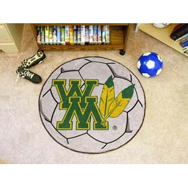 """College of William & Mary Soccer Ball Rug 29"""" Dia."""