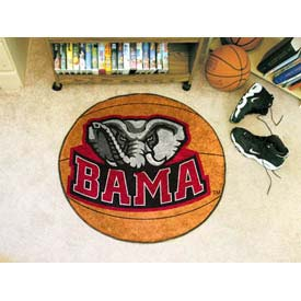 "Alabama Bama Basketball Rug 29"" Dia."