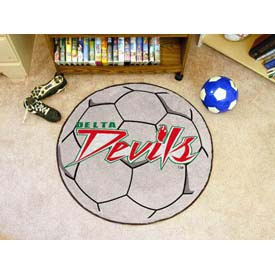 "Mississippi Valley State Soccer Ball Rug 29"" Dia."