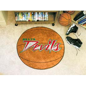 """Mississippi Valley State Basketball Rug 29"""" Dia."""