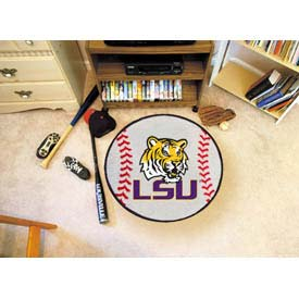"Louisiana State Baseball Rug 29"" Dia."