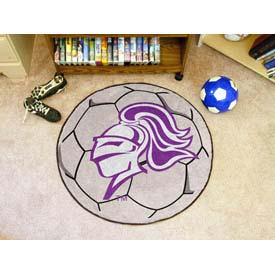 "Holy Cross Soccer Ball Rug 29"" Dia."