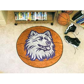 "University of Connecticut Basketball Rug 29"" Dia."