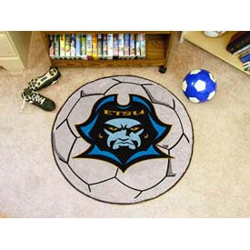 "East Tennessee State Soccer Ball Rug 29"" Dia."