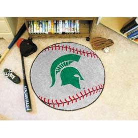 "Michigan State Baseball Rug 29"" Dia."