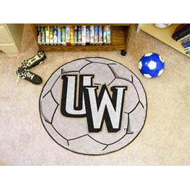 "University of Wyoming Soccer Ball Rug 29"" Dia."