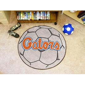 "Florida Soccer Ball Rug 29"" Dia."