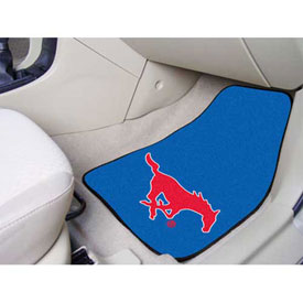 "Southern Methodist University - 2 Piece Carpeted Car Mat Set 17""W x 27""L - 5313"