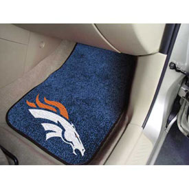 "NFL - Denver Broncos - 2 Piece Carpeted Car Mat Set 17""W x 27""L - 5717"
