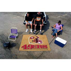 """San Francisco 49ers Tailgater Rug 60"""" x 72"""""""
