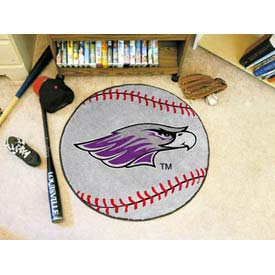 "Wisconsin-Whitewater Baseball Rug 29"" Dia."