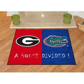"Georgia - Florida House Divided Rug 34"" x 45"""