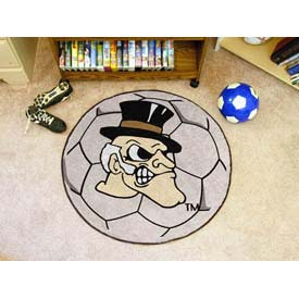 "Wake Forest Soccer Ball Rug 29"" Dia."