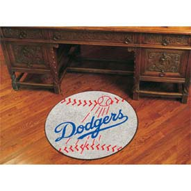 "Los Angeles Dodgers Baseball Rug 29"" Dia."