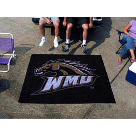 "Western Michigan Tailgater Rug 60"" x 72"""