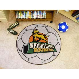"Wright State Soccer Ball Rug 29"" Dia."