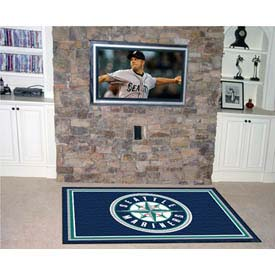 "Seattle Mariners Rug 4 x 6 46"" x 72"""