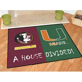 "Florida State-Miami House Divided Rug 34"" x 45"""