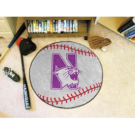 "Northwestern Baseball Rug 29"" Dia."