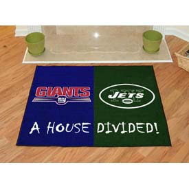 "Fan Mats NFL - New York Giants/New York Jets House Divided Rug 34"" x 45"" - 8463"