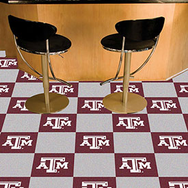 "Texas A&M Carpet Tiles 18"" x 18"" Tiles"