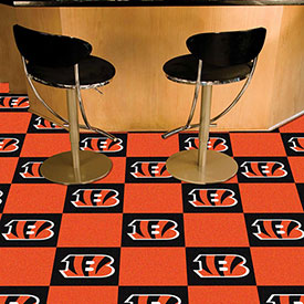 "Cincinnati Bengals Carpet Tiles 18"" x 18"" Tiles"
