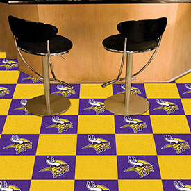 "Minnesota Vikings Carpet Tiles 18"" x 18"" Tiles"