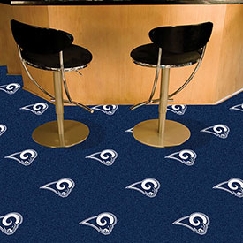 "Fan Mats Los Angeles Rams Carpet Tiles 18"" x 18"" Tiles - 8562"