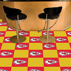 "Kansas City Chiefs Carpet Tiles 18"" x 18"" Tiles"
