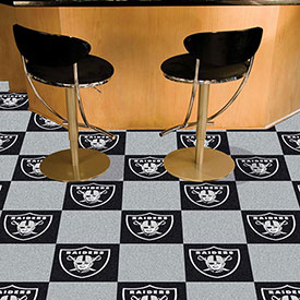 "Oakland Raiders Carpet Tiles 18"" x 18"" Tiles"